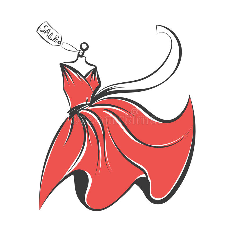 Думмичный вектор иллюстрации чертежа руки платья иллюстрация вектора
