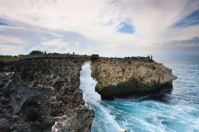 Дуновение воды, Dua Nusa, Бали Индонезия стоковые изображения