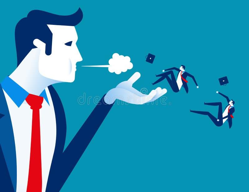 Дунутый прочь Менеджер увольняет работников Иллюстрация вектора дела концепции трудовая иллюстрация штока