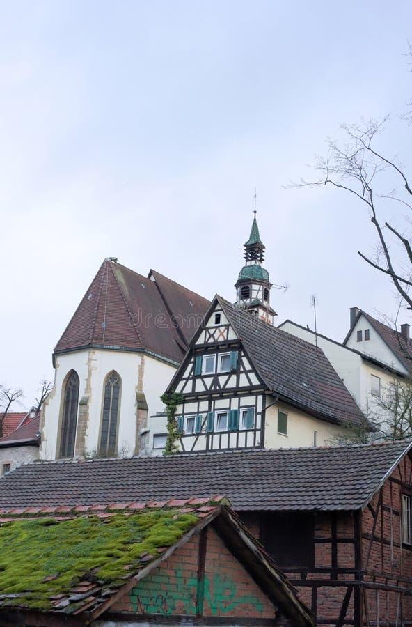 Дуо церков - I - Waiblingen - Германия стоковое изображение rf