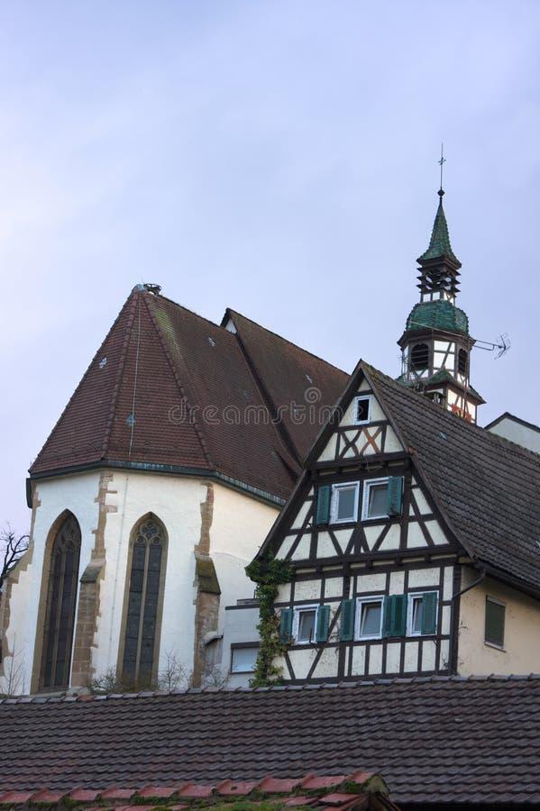 Дуо церков - II - Waiblingen - Германия стоковые изображения rf