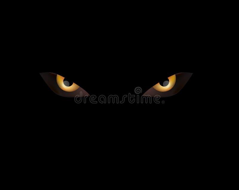 Дурные глазы на черноте иллюстрация штока