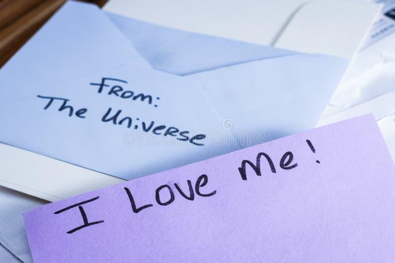 Духовное сообщение в почте стоковая фотография