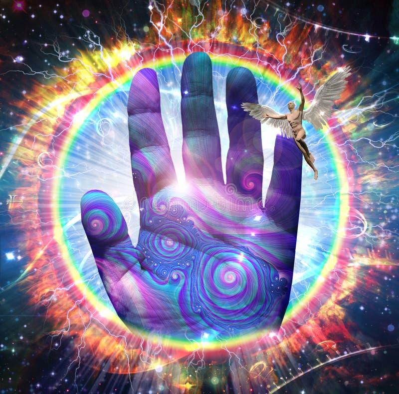 духовность руки бога принципиальной схемы бесплатная иллюстрация