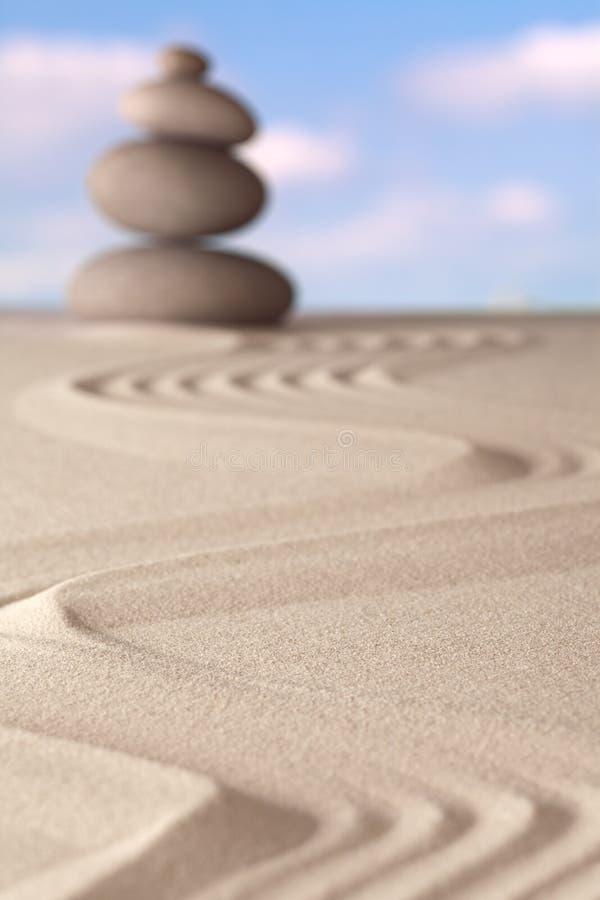 Духовность сада Дзэн и предпосылка баланса стоковые изображения rf