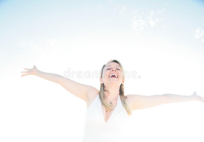 духовность счастья достижения стоковая фотография rf