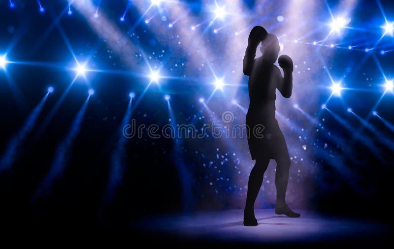 Дух незримого профессионального боксера иллюстрация вектора