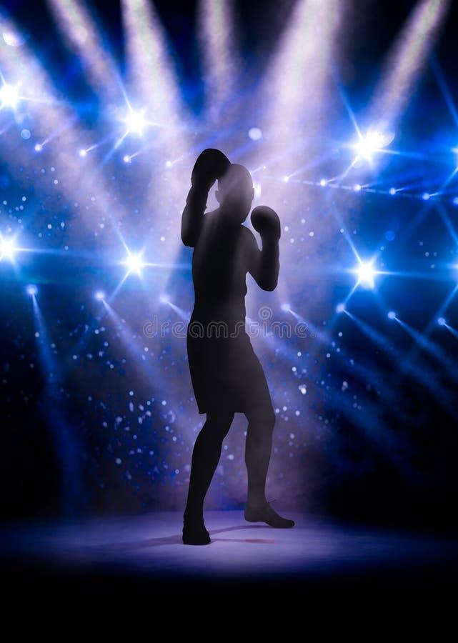 Дух незримого профессионального боксера иллюстрация штока