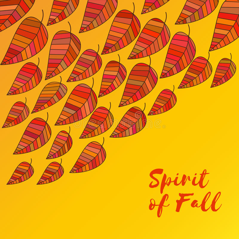 Дух падения иллюстрация штока