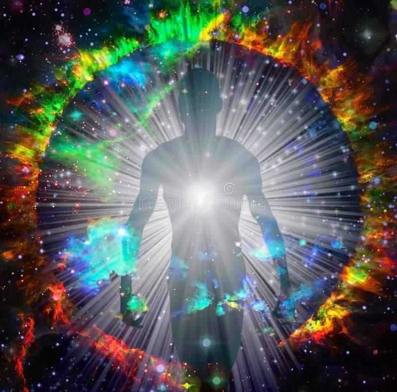 Дух приходит из круга огня стоковое изображение rf