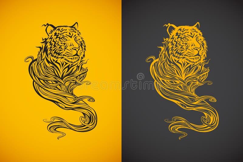 Дух тигра иллюстрация штока
