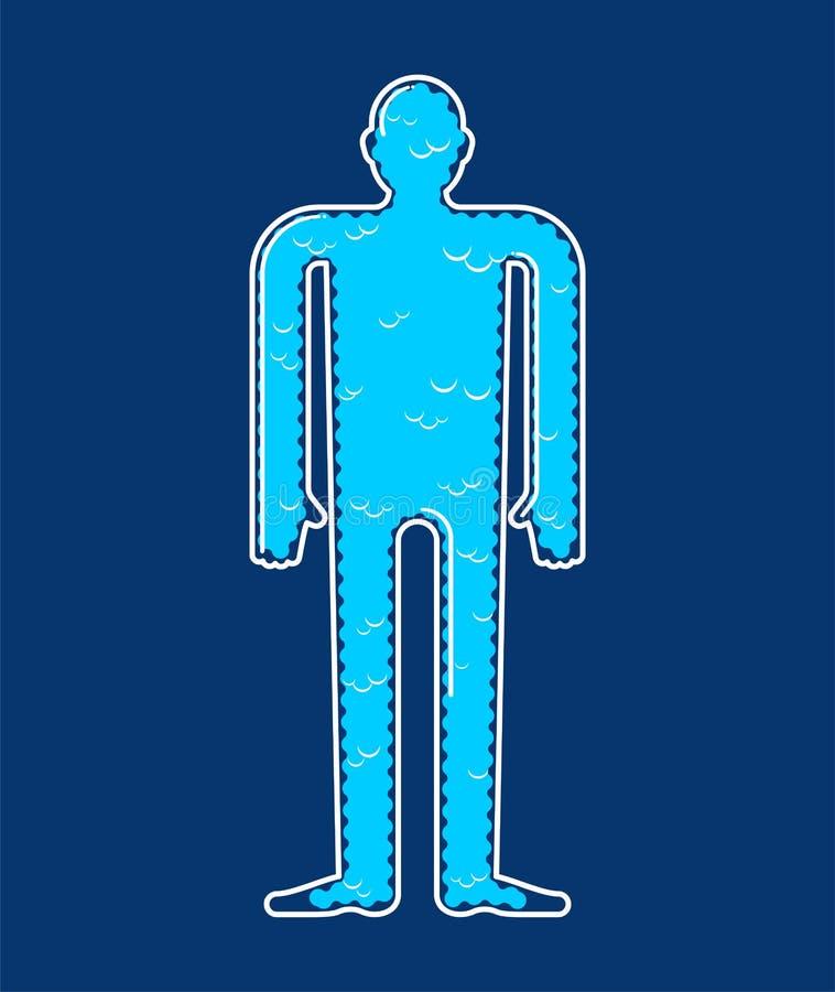 Душа внутри тела Суть тела облака также вектор иллюстрации притяжки corel иллюстрация вектора