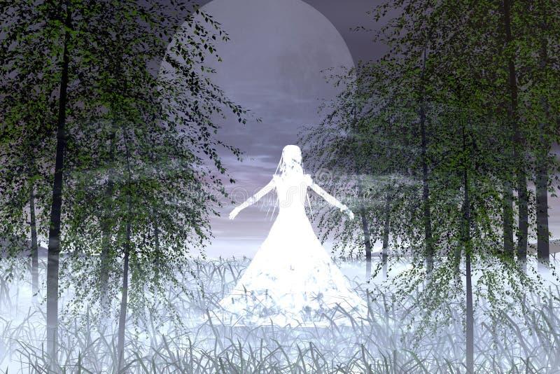 душа девушки иллюстрация вектора