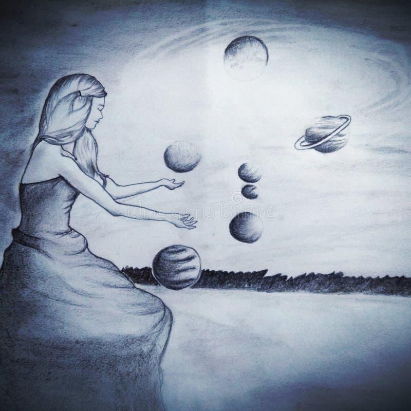 Душа планет стоковое фото rf