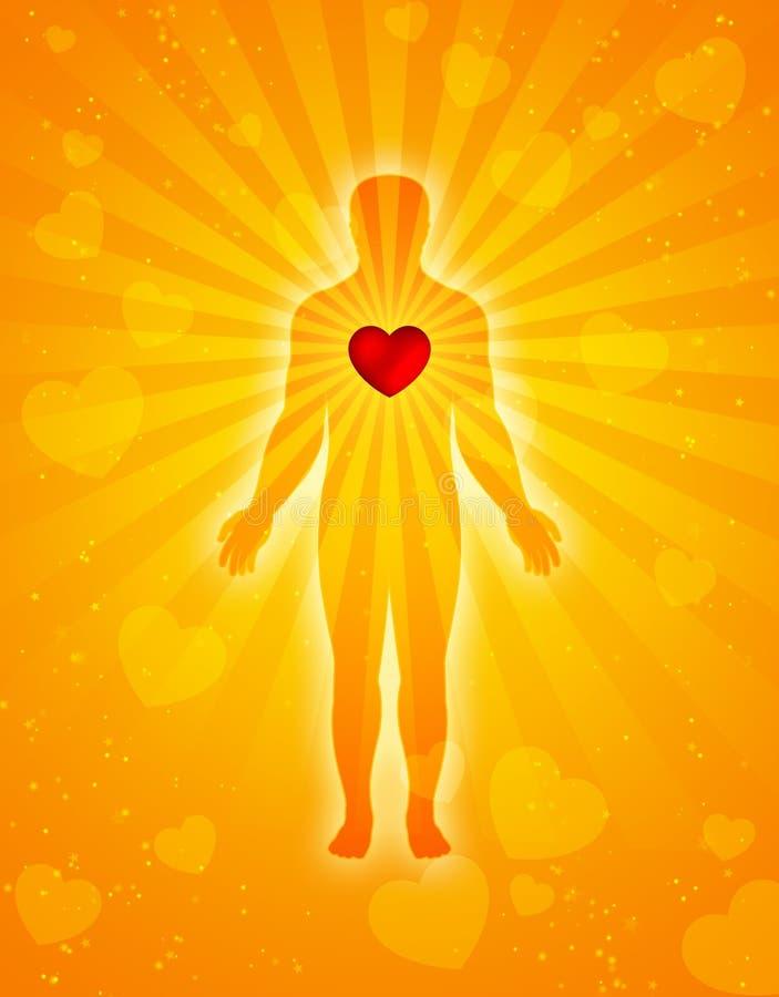 душа сердца тела иллюстрация вектора