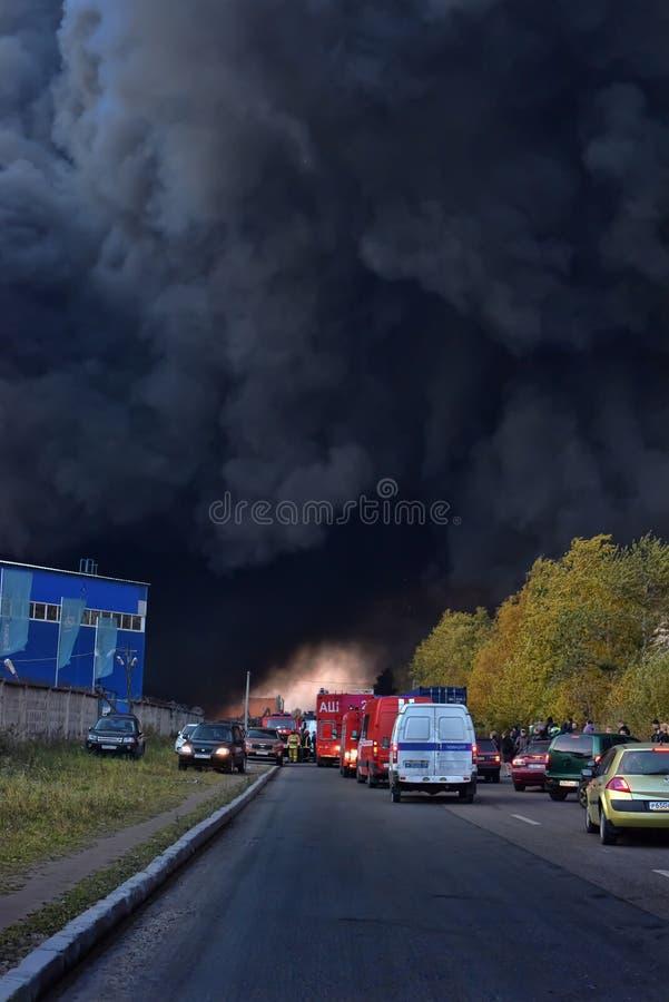 Душа дым и сажа в огнях стоковое фото rf