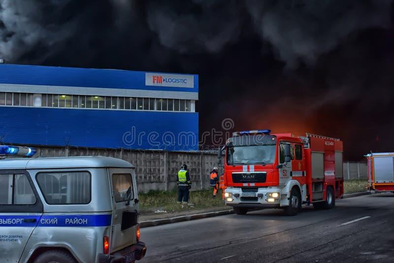Душа дым и сажа в огнях стоковые изображения rf