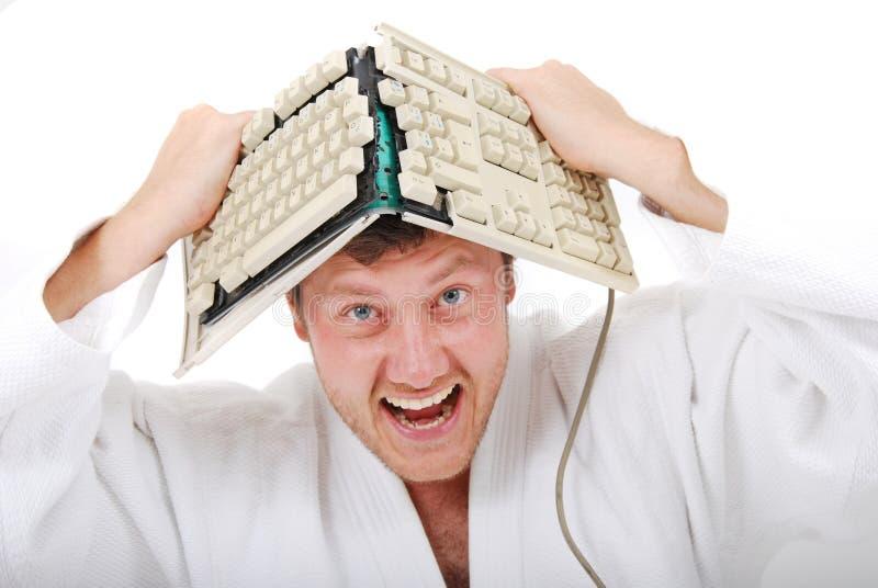 душевнобольное judoist стоковые фотографии rf