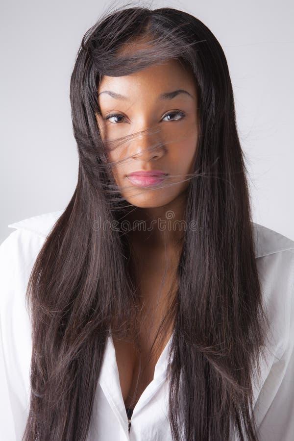 Дуя волосы стоковая фотография