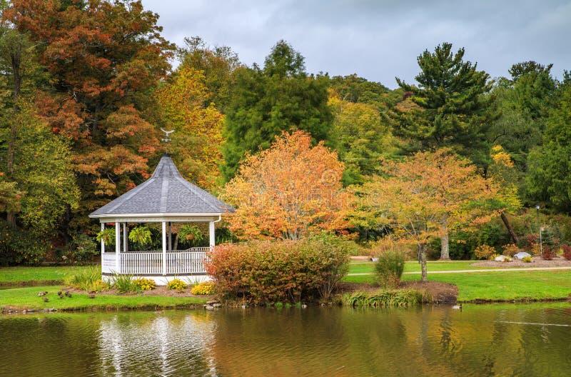 Дуя осень парка Северной Каролины Broyhill утеса стоковое изображение rf