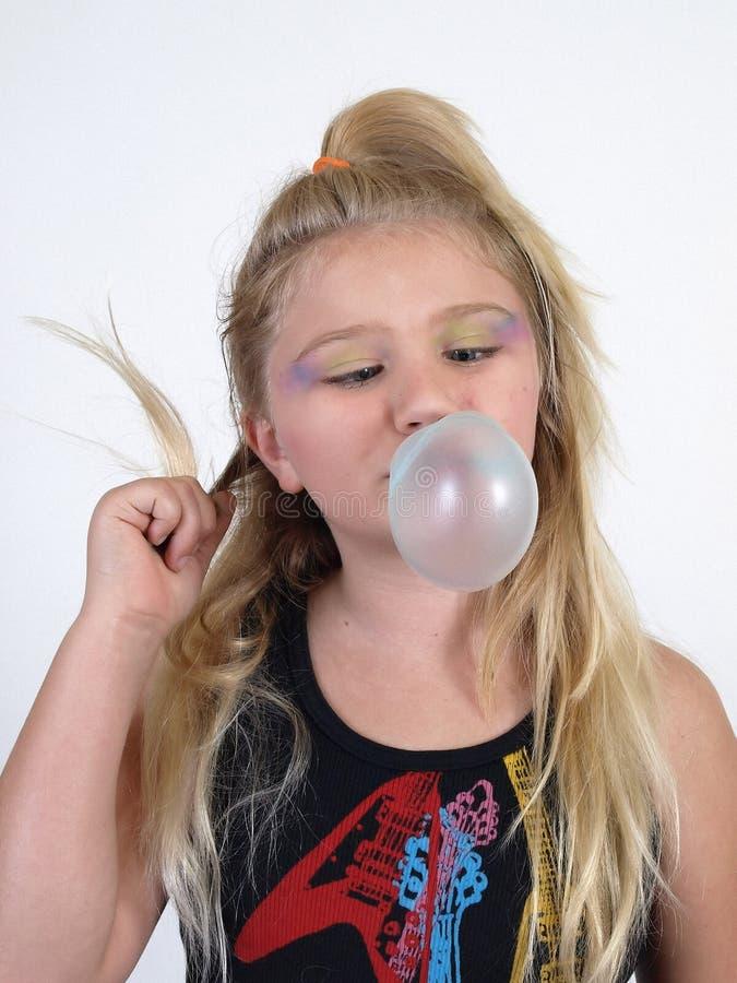 дуя пузырь стоковое фото rf
