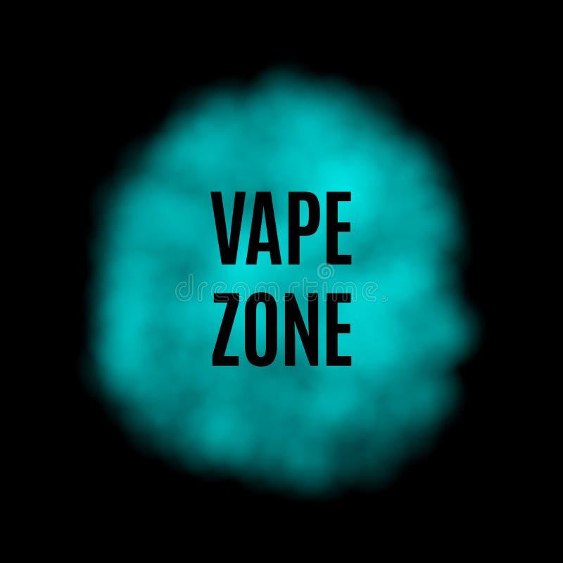 Дым вектора голубой для пользы на темной предпосылке иллюстрация штока