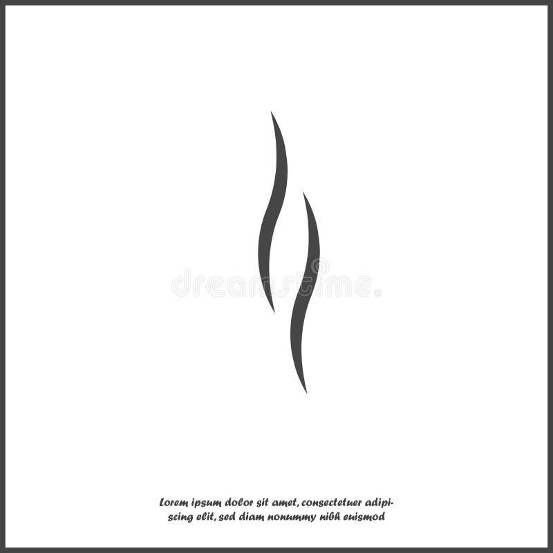 Дым, значок вектора на белой изолированной предпосылке бесплатная иллюстрация