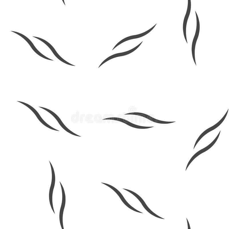 Дым, картина значка вектора безшовная на белой предпосылке бесплатная иллюстрация