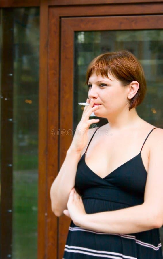 дым портрета девушки стоковые фото