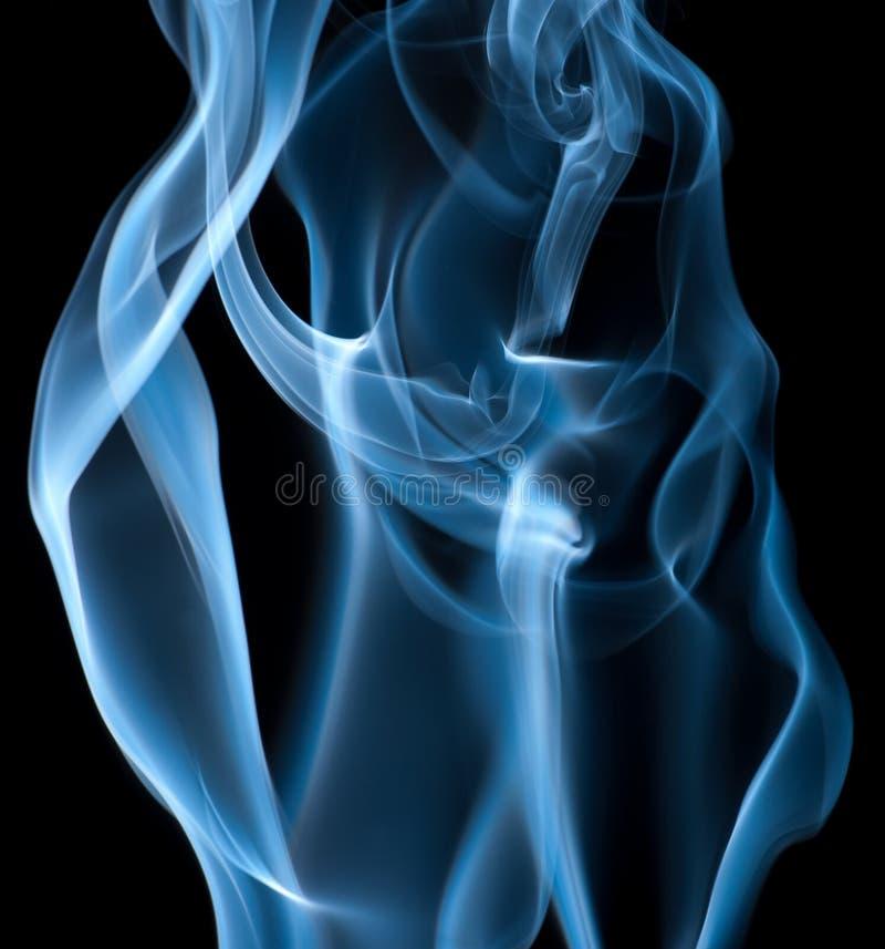 дым предпосылки черный голубой стоковое изображение rf