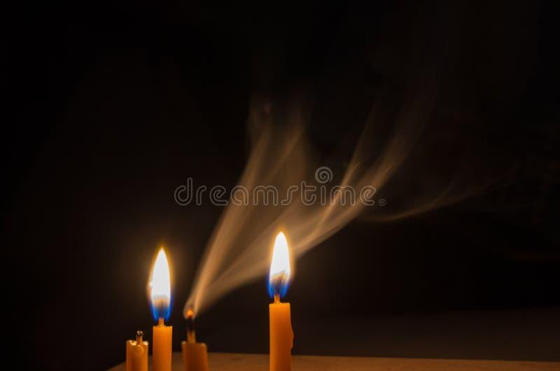 Дым свечи стоковое изображение