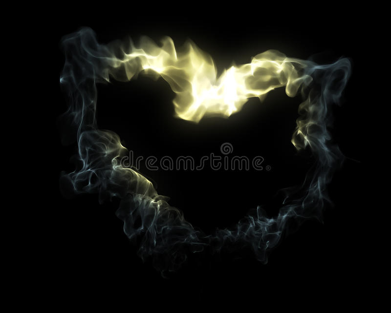 дым сердца иллюстрация штока