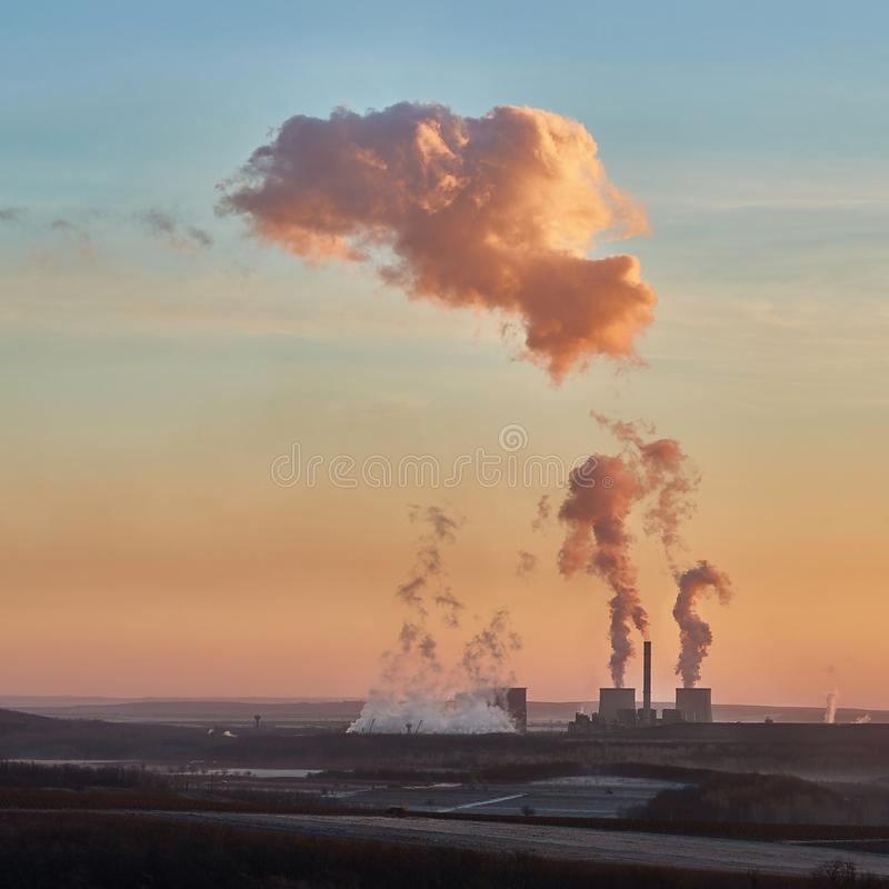 Дым электростанции стоковое фото