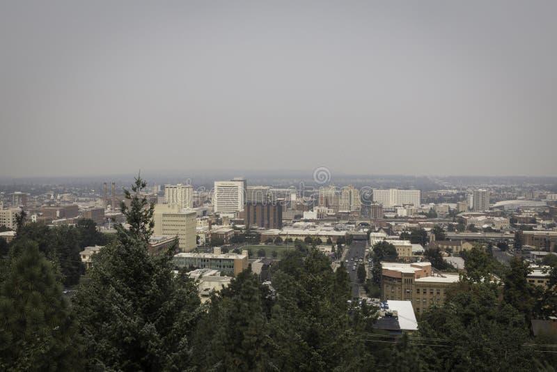 Дым Spokane стоковое фото rf