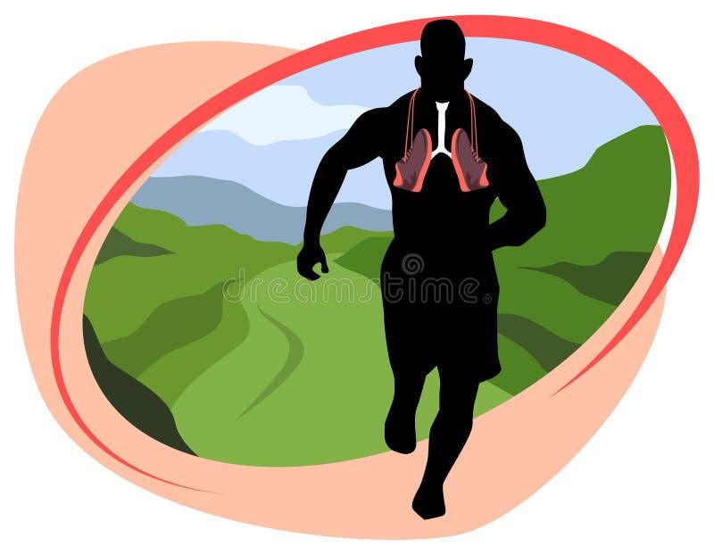 Дышать и jogging в природе стоковое изображение rf