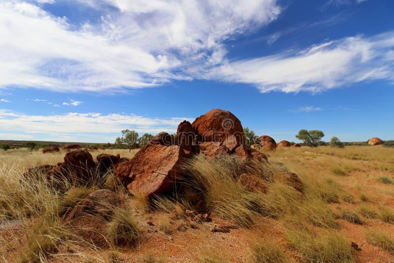 Дьяволы мраморная Австралия стоковые фотографии rf