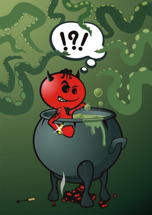 дьявол ванны иллюстрация штока