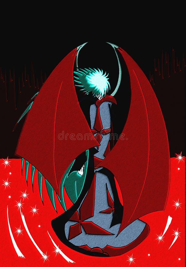 дьявол иллюстрация вектора