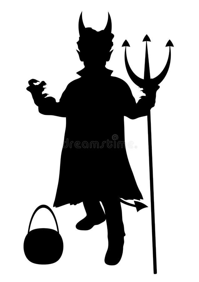 дьявол costume ребенка иллюстрация вектора