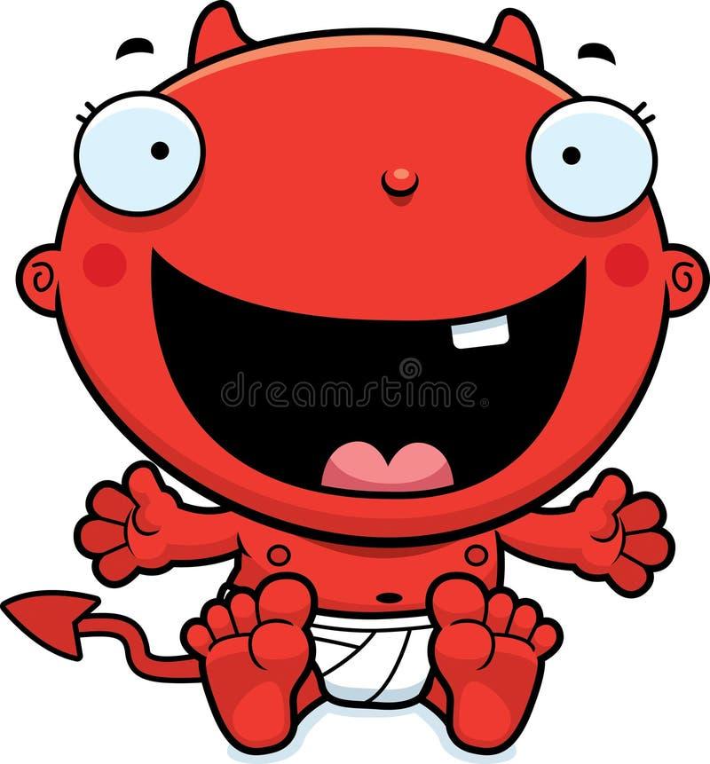 Дьявол младенца шаржа счастливый бесплатная иллюстрация