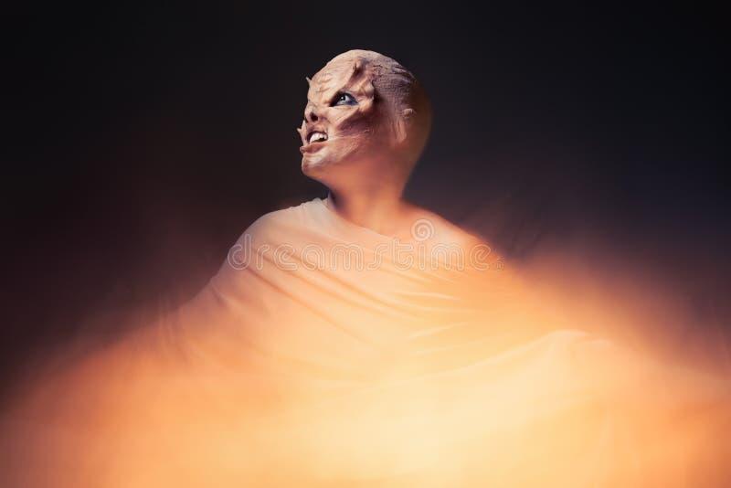 Дьявол от ада Ад и огонь стоковое фото rf