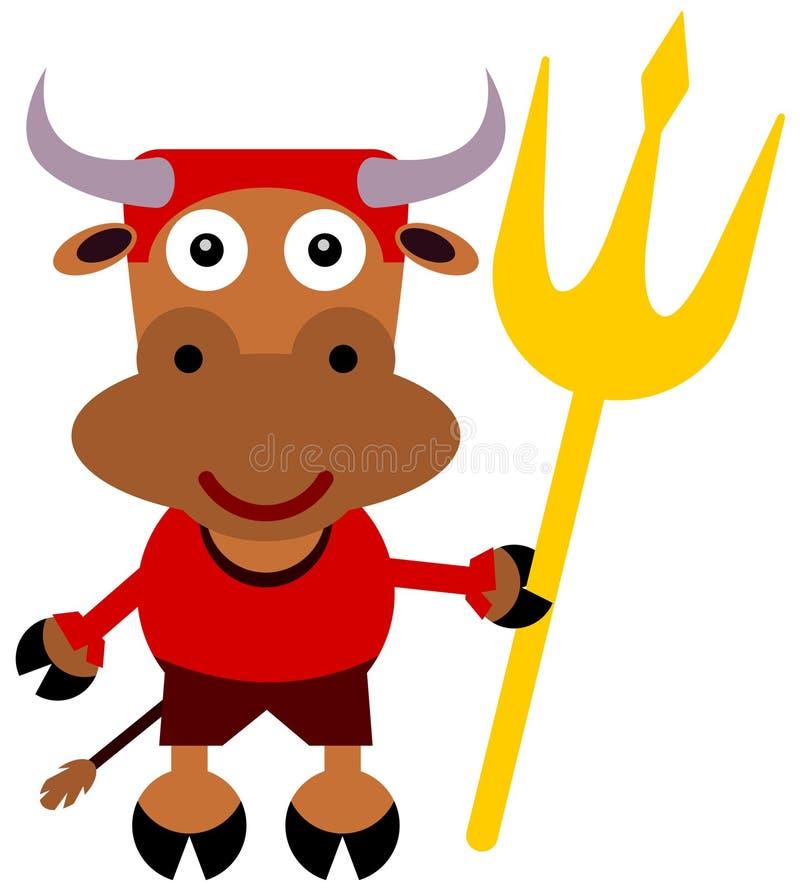 Дьявол Bull иллюстрация штока