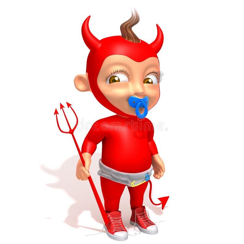 Дьявол Jake младенца иллюстрация штока