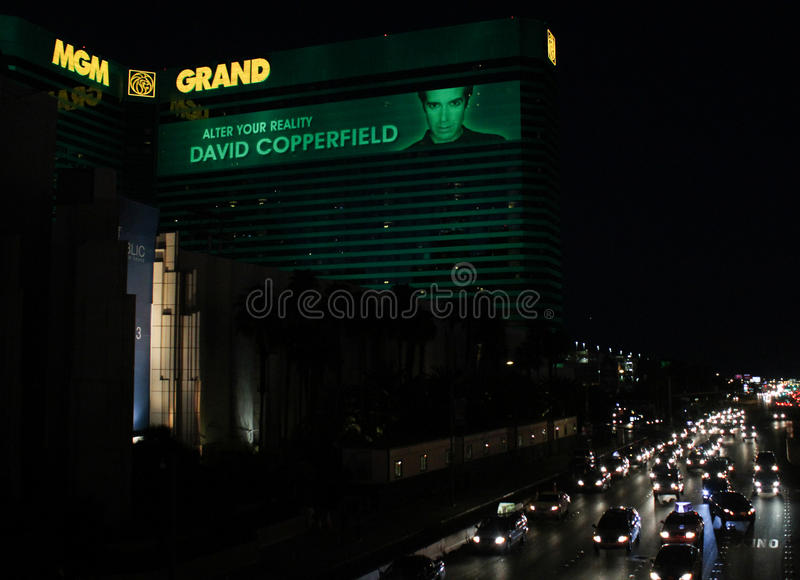 Дэвид Copperfield на Эм-Джи-Эм Гранде, Лас-Вегас стоковая фотография