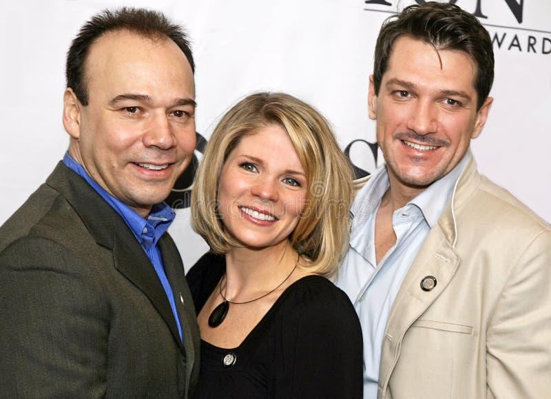 Дэнни Burstein, ` Hara Kelli o, и Paulo Szot стоковое изображение rf