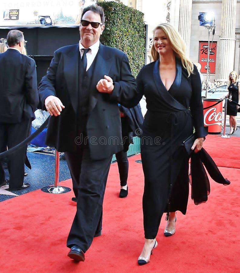 Дэн Akroyd и Донна Dixon стоковая фотография rf