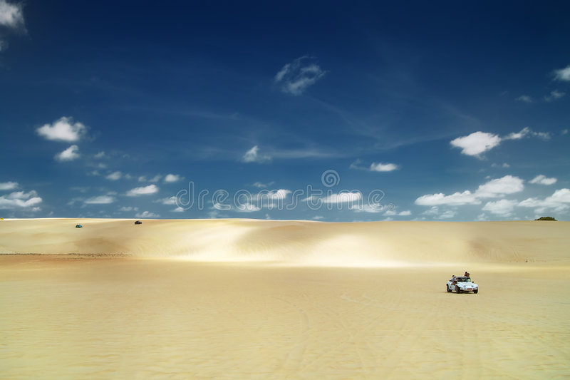 дюна багги Бразилии натальная стоковое изображение