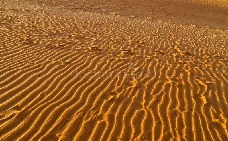 Дюна следов ноги струится пустыня Дубай пустая стоковая фотография