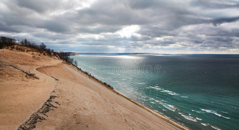 Дюна Lake Michigan стоковое изображение rf