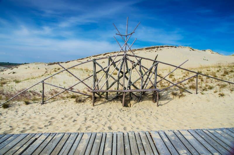 Дюны в Литве стоковое фото